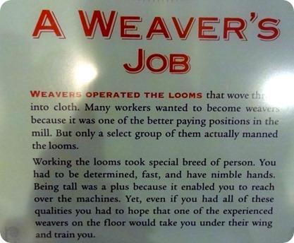 weaver's job description