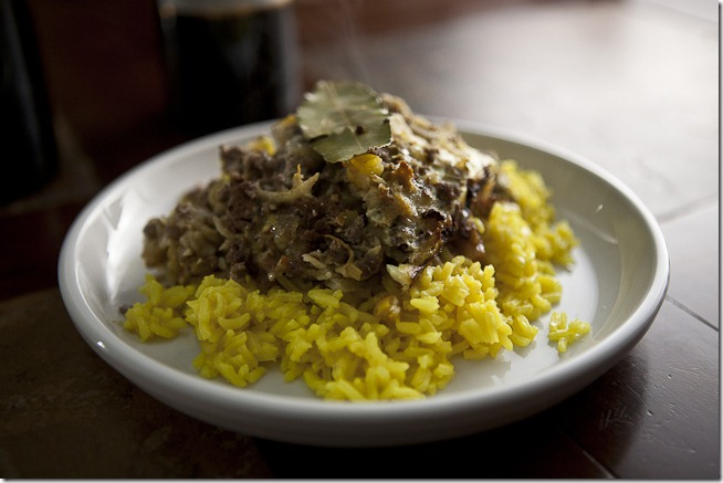 Bobotie with Saffron Rice-1