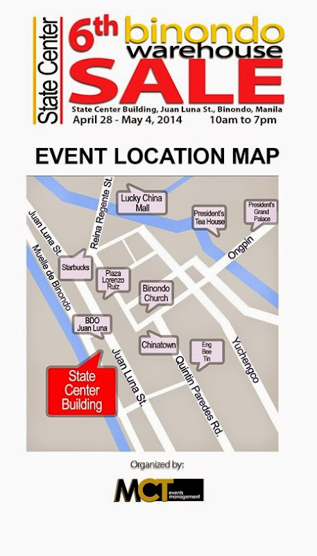 6th Binondo Warehouse Sale Location Blow Up Map