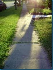 unedged sidewalk