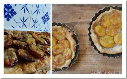 Collage tartes