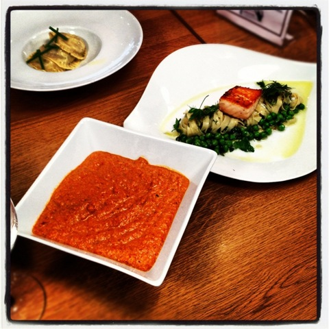 Day #112 of #project366 - fresh tagliatelle and ravioli with pesto