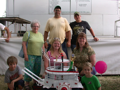 2011 Bucket of Junk winning entry winner, Nancy Skubal.  Photo courtesy:  Shirley Bohr