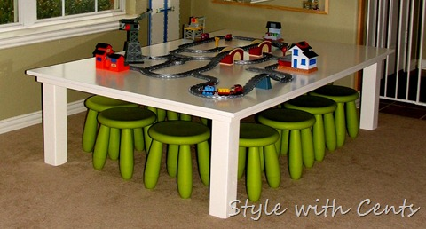 Pottery Barn Kids Inspired Train Table Kids Table $40