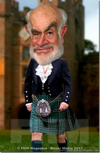 Caricatura Sean Connery