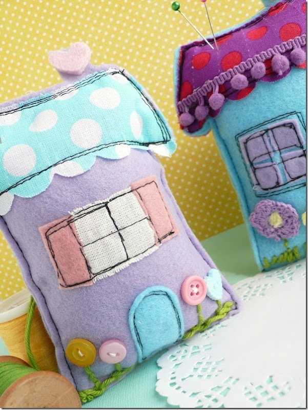 cafe creativo - sizzix big shot - sewing houses pincushion (4)