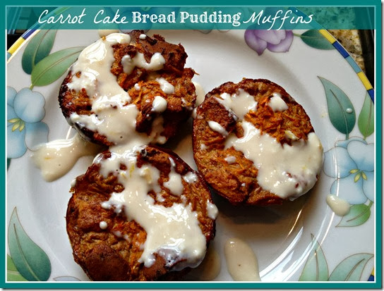 carrot cake bread pudding muffins