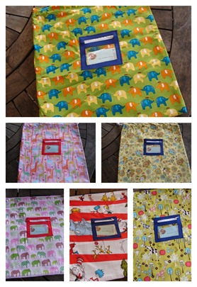kindy library bags Collage