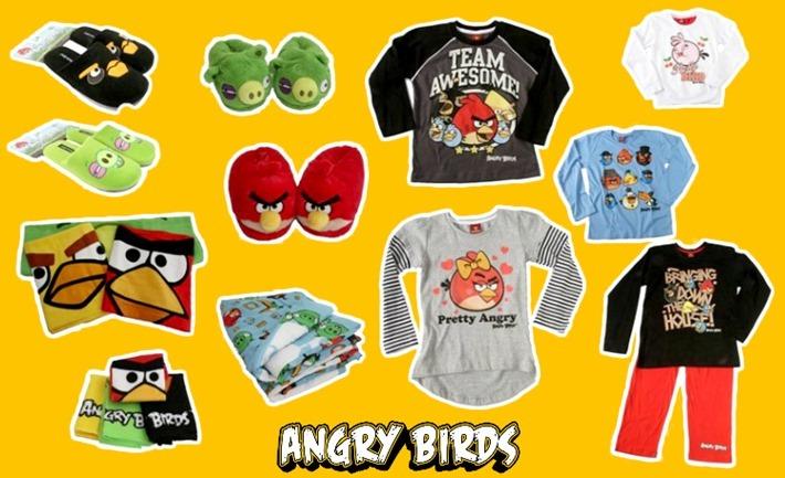 roupas e pantufas angry birds 2