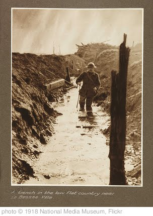 'A trench in the low flat country near La Bassee Ville' photo (c) 1918, National Media Museum - license: http://www.flickr.com/commons/usage/