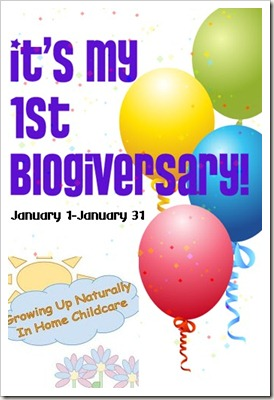 1 Year Blogiversary Event Logo