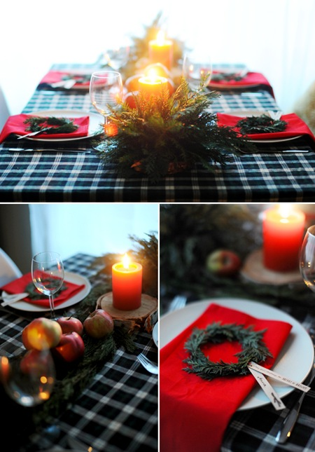 Semplicemente Perfetto Christamas Table Setting