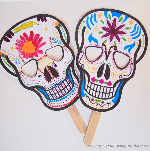 #Halloween #freeprintable #DayoftheDeadMask #kidscraft