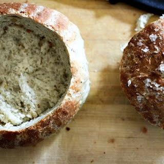 Onion, Dill, Sour Cream Bread Bowls {mini boule loaves}