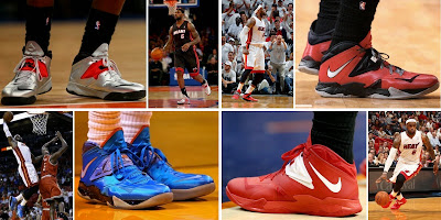 nike zoom soldier 7 pe timeline 000000 collage King James and His 26 Different Nike Zoom Soldier VIIs in 2013 14