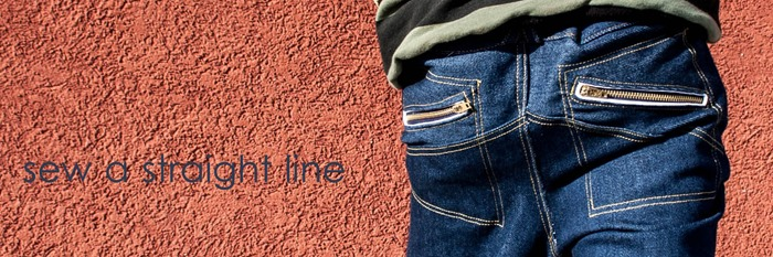 w pants pleated knees sew a straight line-1-3