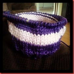 pink purple bag hat