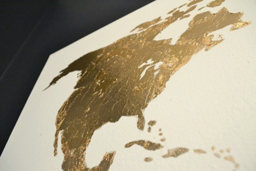 gold leaf closeup North America