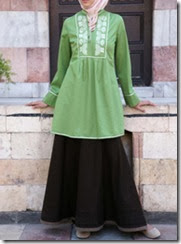 model tunik dan blus sederhana