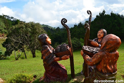 Kublai sculptures at the Agong House area in Kapatagan