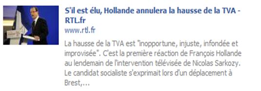 TVA Sociala e François hollande