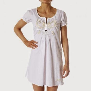 #327b Evergreen dress white