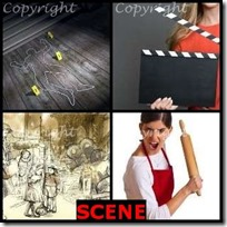 SCENE- 4 Pics 1 Word Answers 3 Letters