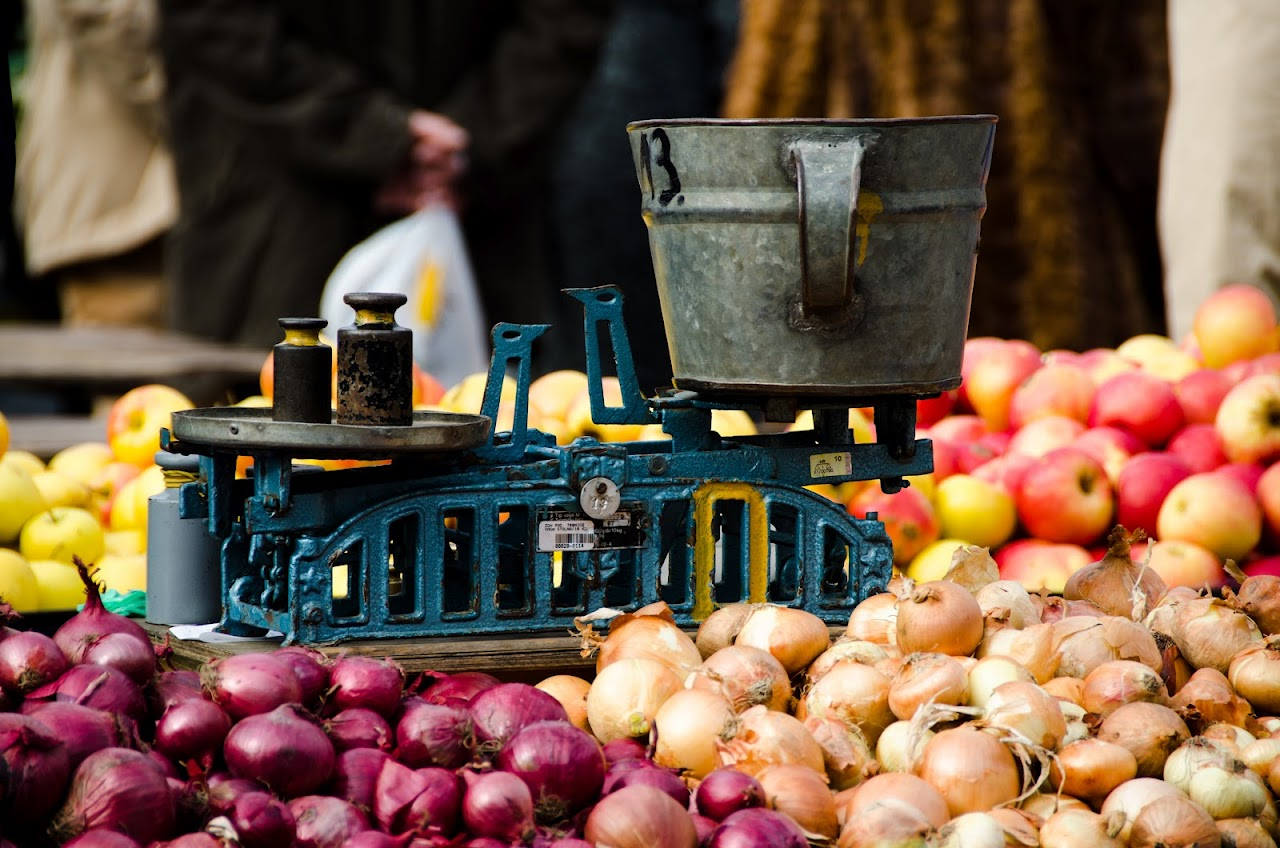 Onions at Dolac Market