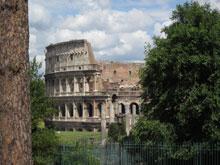 """Гледка на Колизеума от хълма """"Палатин"""""""