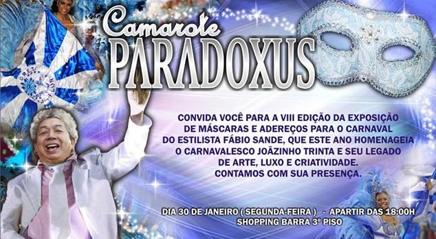 Convite_LancamentoAderecosdeCarnavalFabioSande_Paradoxus