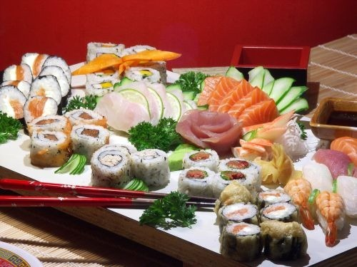 Sushi platter