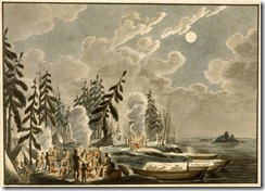 Rindisbacher inhospitable shores of Lake Winnipeg 1821