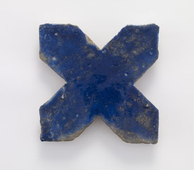 Tile | Origin:  Iran | Period: 12th-13th century? | Details:  Not Available | Type: Stone-paste painted with glaze | Size: H: 1.8  W: 20.6  cm | Museum Code: F1909.106 | Photograph and description taken from Freer and the Sackler (Smithsonian) Museums.
