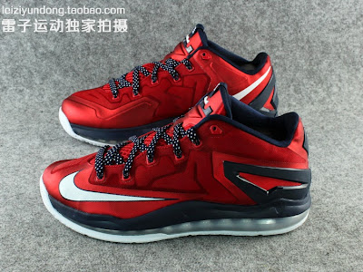 nike lebron 11 low gr red black 1 07 This LeBron 11 Low Dipped in USA Colors Drops in June