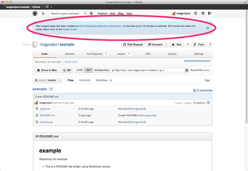 Mogproject example  GitHub