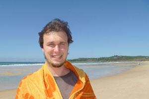 Ned on Stradbroke Island