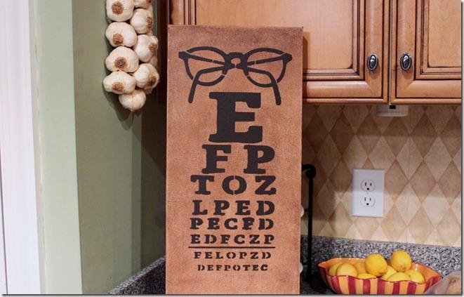 Eye Chart Stencil 011