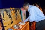 President offering pooja to deity Lord Ganesha