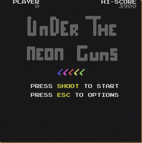 Under the neon guns