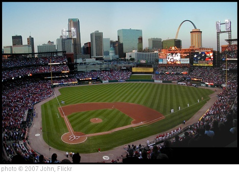 'Pre-game ceremony honors 1987 Cardinals' photo (c) 2007, John - license: http://creativecommons.org/licenses/by-sa/2.0/