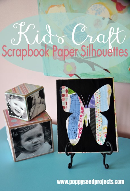 super saturday craft idea - scrapbook silhouettes