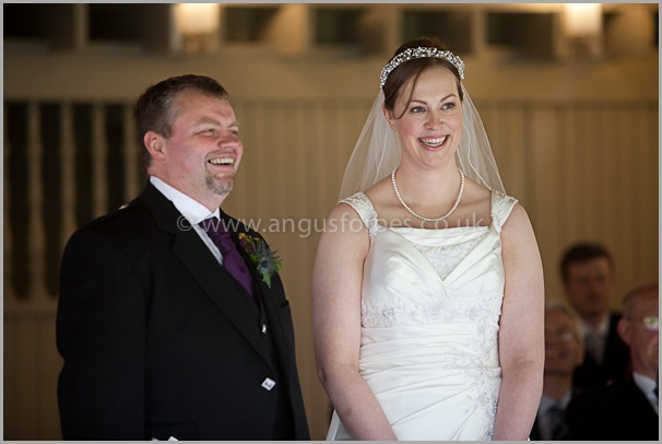 smiling bride, carberry tower