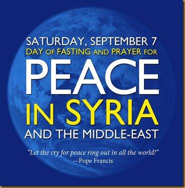 SYRIA PEACE FASTINGANDPRAYER