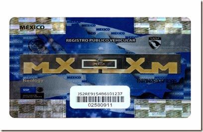 Chip Calcomania del REPUVE en Mexico