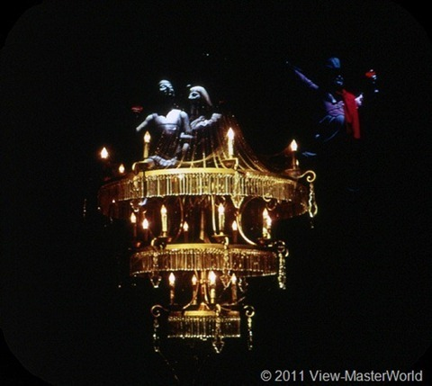 View-Master New Orleans Square (A180), Scene 3-4: Spooks Perch on Chandelier
