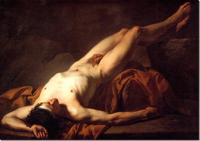 david - ciało hektora 1778