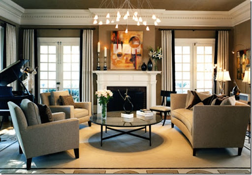 Charmant Transitional Style Living Room
