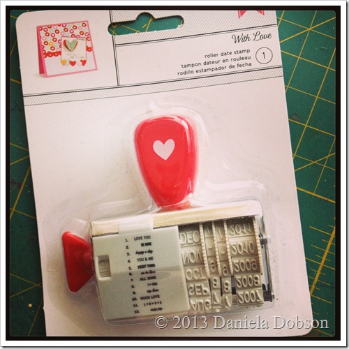American Crafts With Love Roller Date Stamp