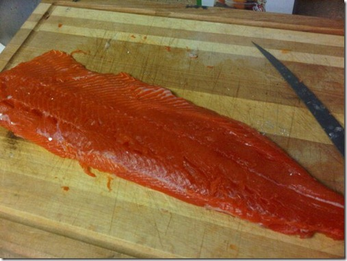 salmon after