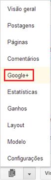 Clique em Google  - Blogger